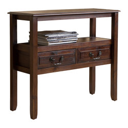 Great Deal Furniture - Noah Wood Accent Table, Brown Mahogany - With the Noah acacia wood accent table, you get the beauty of a smooth finish with the strength of true acacia wood. Perfect as a side table or as a display piece in your living room, bedroom or any other room.