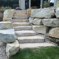 Traditional Landscaping Stones And Pavers by CUSTOM RETAINING WALLS & LANDSCAPING INC