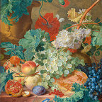 Still Life with Flowers and Fruits, 1749 | Huysum | Canvas Print - Condition: Canvas Print - Unframed