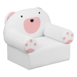 Flash Furniture - Flash Furniture Kids Bear Chair - Kids will now get to enjoy furniture designed specifically for their size! This bear themed chair will be a charming piece of furniture that your child is sure to love. This portable chair is great for seating in any room. The vinyl upholstery ensures easy cleaning after accidents or for quick wipe offs.