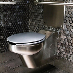 Neo-Metro - Neo-Metro   Contour Toilet - Made in the United States by Neo-Metro.The Contour Toilet has an efficient yet striking design that is ideal for commercial settings. Made out of heavy duty recyclable stainless steel, this toilet is not only environmentally-friendly, but also provides durability after years of daily use. Featuring an elongated toilet bowl, this sleek toilet is highly compact for modern washrooms with high traffic. Select the ideal finish for your space. Product Features: