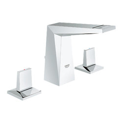 "Grohe - Grohe 20343-000 Allure Brilliant Wideset Lavatory Faucet - This Allure Brilliant Wideset Lavatory Faucet (20343) Comes With 1/2"" Ceramic Cartridges (90 degree turn) For Long-Lasting, Leak-Free Performance With Each Of The Two Grip Handles. It Features Grohe'S Watercare Technology For A Water-Saving 1.5 Gpm, Pressure Resistant Flexible Connection Hoses (Between Spout And Side Valves), And A 1-1/4"" pop-up Waste Set. This Model Comes In A Brilliant, Starlight Chrome Finish."