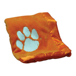 Collegiate Delight - Clemson University Blanket - Let your school spirit show with these officially licensed collegiate baby blankets. These embroidered coral fleece blankets with matching satin trim are super soft to the touch and perfect for your future graduates and athletes.