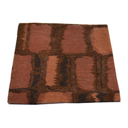 1800-Get-A-Rug - Oriental Rug Wool and Silk Hand Knotted Rug Square Mat Modern Nepali Sh7478 - About Modern & Contemporary