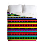 DENY Designs - Romi Vega Heavy Pattern Duvet Cover - Turn your basic, boring down comforter into the super stylish focal point of your bedroom. Our Luxe Duvet is made from a heavy-weight luxurious woven polyester with a 50% cotton/50% polyester cream bottom. It also includes a hidden zipper with interior corner ties to secure your comforter. it's comfy, fade-resistant, and custom printed for each and every customer.