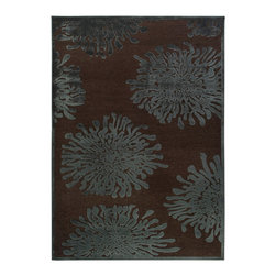 "Surya - Surya Basilica BSL-7159 (Mushroom, Teal) 7'6"" x 10'6"" Rug - The rugs of Surya's Basilica Collection are distinctive and textural with high contrast color palettes and shimmering details. Machine made in Turkey from a combination of viscose and acrylic chenille, these rugs are durable, stylish, and priced right. Modern motifs and cutting edge construction, they make a sophisticated statement in any transitional or contemporary space."