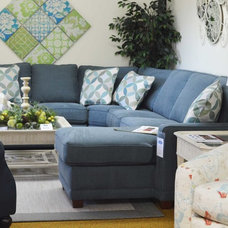 Transitional Sectional Sofas by Perry's Furniture