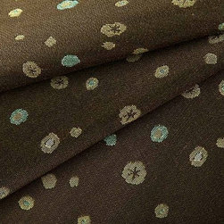 Bits & Pieces in Boysenberry - Bits & Pieces in Boysenberry is a brown polka dot upholstery fabric made from a hearty cotton blend. Perfect for upholstering sofas, chairs, and ottomans this design center fabric adds a youthful, fun element to interior designs. American made from a blend of 71% cotton and 29% polyester with an acrylic backing. This fabric passes Wyzenbeek 50,000 double rubs, Calif Bulletin #117, UFAC, and NFPA 260 Class I. Cleaning code: WS. This fabric meets or exceeds ACT standards for upholstery use. Repeat: approximately 8.1? v x 13.5? h; Width: 54?