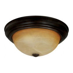 YOSEMITE HOME DECOR - 3 Lights Flush Mount in Venetian Bronze - - 15.5 in. Flush Mount