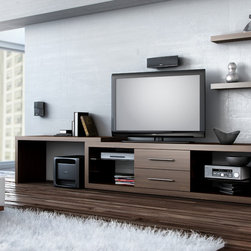 ILLUSION - Home Entertainment Unit - The ILLUSION collection offers you a relaxing look that will elevate the comfort of your living space. In this collection, you will discover the different structural variations associated with television modules. You will also find our various living room tables. All you need to do is make a choice!