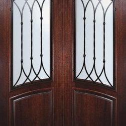 "Slab Double Door 96 Wood Mahogany Warwick Arch Top Arch Lite - SKU#P91662WWBrandGlassCraftDoor TypeExteriorManufacturer CollectionArch Top Double DoorDoor ModelWarwickDoor MaterialWoodWoodgrainMahoganyVeneerPrice3800Door Size Options2(36"") x 96"" (6'-0"" x 8'-0"")  $0Core TypeDoor StyleArch TopDoor Lite StyleArch LiteDoor Panel StyleHome Style MatchingDoor ConstructionPortobelloPrehanging OptionsSlabPrehung ConfigurationDouble DoorDoor Thickness (Inches)1.75Glass Thickness (Inches)Glass TypeDouble GlazedGlass CamingGlass FeaturesTemperedGlass StyleGlass TextureWater , Flemish , Baroque , Fluted , Rain , Glue Chip , ClearGlass ObscurityLight Obscurity , Moderate Obscurity , Highest Obscurity , No ObscurityDoor FeaturesDoor ApprovalsWind-load Rated , FSC , TCEQ , AMD , NFRC-IG , IRC , NFRC-Safety GlassDoor FinishesDoor AccessoriesWeight (lbs)575.2Crating Size25"" (w)x 108"" (l)x 52"" (h)Lead TimeSlab Doors: 7 daysPrehung:14 daysPrefinished, PreHung:21 daysWarrantyOne (1) year limited warranty for all unfinished wood doorsOne (1) year limited warranty for all factory?finished wood doors"