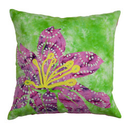 Spring & Spruce - Audrey Decorative Pillow - Green/Magenta - Why we love it