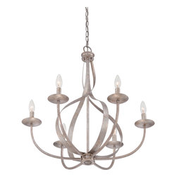 Quoizel - Quoizel SER5006IF Serenity 6 Light Chandeliers in Italian Fresco - Feminine, airy and radiant are just a few words to describe the almost ethereal quality of the Serenity Chandeliers. The swirling fixture appears in motion and is enhanced by the stunning Italian Fresco finish.