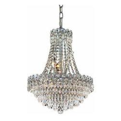 Elegant Lighting - Elegant Lighting 1902D16C/EC Century 8 Light Chandeliers in Chrome - 1902 Century Collection Hanging Fixture D16in H20in Lt:8 Chrome Finish (Elegant Cut Crystals)