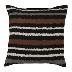 Surya Rugs - Caviar Papyrus Robin's Egg Blue and Flint Gray Polyester Filled 18 x 18  Pillow - - Add fun to any room with this striped design and colors of caviar papyrus robin?s egg blue and flint gray. This pillow has a polyester fill and zipper closure. Made in India with one hundred percent linen this pillow is durable and priced right  - Cleaning/Care: Blot. Dry Clean  - Filled Material: Polyester Filler Surya Rugs - AR101-1818P
