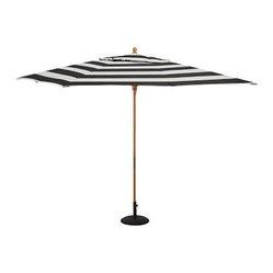 rectangular umbrella with teak pole sunbrella r awning
