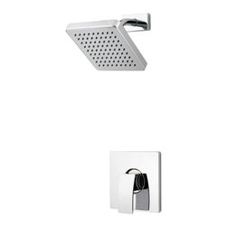 Price Pfister - Pfister R89-7DFC Kenzo Shower Only Trim Kit - Price Pfister R89-7DFC is a Kenzo Series Shower trim, includes lever handle, flange and decorative showerhead. Must order 0X8 and 0X9 valve bodies.
