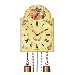 ROMBACH UND HASS - Rombach und Haas The Shield Black Forest Painted Dial Antique Reproduction Clock - Antique Reproduction Clock