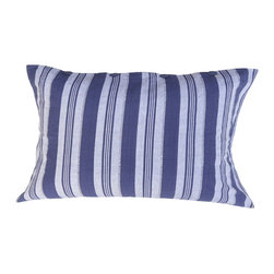 Alamwar - Nautical Blue Stripe Sham - You don't have to fill your room with anchors and rope detailing to achieve a beautifully nautical look. Add a couple of striped shams to your bedding for a subtle link to the sea. Mix and match them with shades of blue and white for a truly serene place to rest your head.