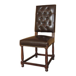 Four Hands - Connor Brown Tufted Dining Chair -