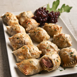 Horchow - Six Beef Wellington Minis - Tender mini beef tenderloins with mushrooms and onions are wrapped in delicious puff pastry. Simply bake and serve. 3 servings per order; 2 pieces per serving. Please note that this item may require additional delivery and processing charges. Per...