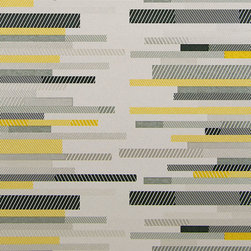 Color Linea Digitale Wallpaper, Amber, Swatch - • Vinyl Covered Paper