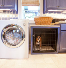 mediterranean laundry room by Creative Touch Interiors
