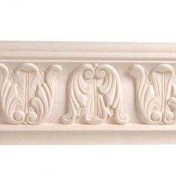 Moldings, Trim & Brackets - 8 Foot X 4 5/8 Inch Scroll Crown Molding: Handcarved moldings are part of the Legacy collection of moldings, corbels, and appliques. Offered in five domestic wood types, the moldings feature incredible craftmanship and quality. Molding is shipped ready to paint or stain.