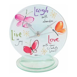 WL - 6.75 Inch Live, Laugh, Love Butterfly Desk Clock Collectible Statue - This gorgeous 6.75 Inch Live, Laugh, Love Butterfly Desk Clock Collectible Statue has the finest details and highest quality you will find anywhere! 6.75 Inch Live, Laugh, Love Butterfly Desk Clock Collectible Statue is truly remarkable.