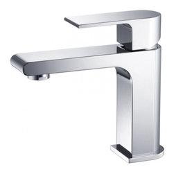 Fresca - Fresca FFT9151CH Allaro Single Hole Mount Bathroom Vanity Faucet - Chrome - Fresca FFT9151CH Allaro Single Hole Mount Bathroom Vanity Faucet - Chrome