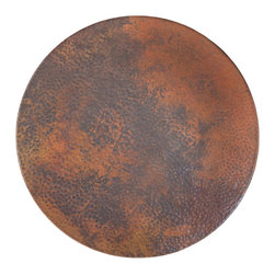 "Native Trails - 20"" Copper Lazy Susan - Sharing your culinary creations was never easier than with the ingenuity and versatility of a Copper Lazy Susan. Made from 100% recycled copper, this hand hammered Lazy Susan adds a touch of elegance to your dining room and ensures everyone can join in on the feast."