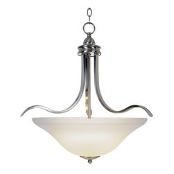 Premier - One Light 21 inch Pendant Fixture - Brushed Nickel - AF Lighting 617200 Sanibel Lighting Collection 1 Light Pendant, Brushed Nickel, 21in. W by 22in. H.