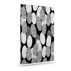 """Kess InHouse - Jacqueline Milton """"Seeds - Monochrome"""" Black White Wrapped Art Canvas (12"""" x 10"""" - Bring your outdoor patio to life with this artistic outdoor canvas wrap featuring gorgeous artwork by KESS InHouse. These canvases are not only easy to hang and remove but also are the perfect addition to your patio collection. These canvases are stretched around a wooden frame and are built to withstand the elements and still look artistically fabulous. Decorating your patio and walls with these prints will add the splash of art and color that is needed to bring your patio collection together! With so many size options and artwork to choose from, there is no way to go wrong with these KESS Canvas Wraps!"""