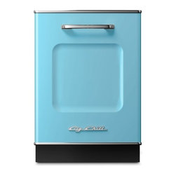 """Big Chill - Big Chill Dishwasher 24 in. wide - Beach Blue - The Big Chill Beach Blue Dishwasher is the perfect addition to your kitchen dcor. 1950s style meets modern functionality with the 24"""" x 35"""" dishwasher that is scratch and fade resistant, trimmed in durable chrome, and built to last. With the blue Big Chill dishwasher you get the retro look you love, and the modern dishwashing power you need."""