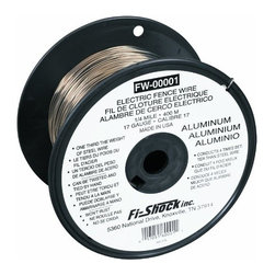 FI-SHOCK INC - 17GA ALUM FENCE WIRE 1320FT - 90 Pound Breaking Load Limit. Lightweight. Rust-proof.        38,000 PSI TENSILE STRENGTH   17 Gauge - 1320'    This item cannot be shipped to APO/FPO addresses.  Please accept our apologies