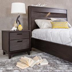Sarina Bedroom - Sarina Queen Storage Bed & Nightstand