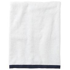 Traditional Bath Towels Navy Border Frame Bath Towel