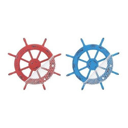 """Benzara - Beautiful and Modern Wood Ships Wheel Hook 2 Assorted - Beautiful and Modern Wood Ships Wheel Hook 2 Assorted. Brandishing a realistic appearance, this wood Ships Wheel hooks is an excellent accessory if you are looking for practicality and style. It comes with following dimensions: 18""""W x 1""""D x 18""""H. 1""""W x 1""""D x 18""""H."""