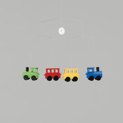 Flensted Mobiles - Primary Trains Mobile - Primary Trains Mobile
