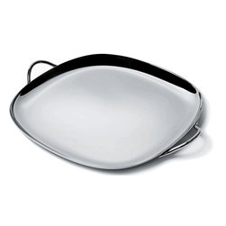 "Alessi - Alessi ""Iglu"" Tray - Serving is effortless with this attractive, handy tray. The convenient size and handles help hosting agility and help you present your tri-tip, grilled salmon or seitan loaf with polish."