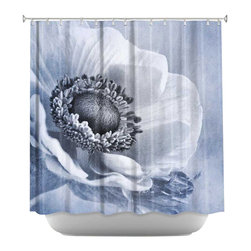DiaNoche Designs - Sophisticated Shower Curtain - Sewn reinforced holes for shower curtain rings. Shower curtain rings not included. Dye Sublimation printing adheres the ink to the material for long life and durability. Machine washable. Made in USA.