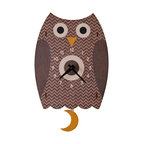 Owl Pendulum Clock - The colorful owl Pendulum children's wall clock is the perfect adorable time-keeper to add a bit of whimsy and decorative fun to any nursery or kid's bedroom. It is also an enjoyable gift for a child or newborn.
