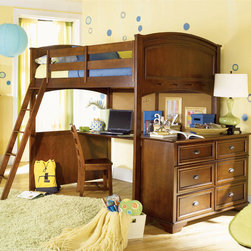 Lea Children's Furniture - Deer Run Full Loft Bed - Deer Run Full Loft Bed