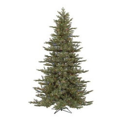 Vickerman Austrian Fir Pre-Lit Multi Colored LED Christmas Tree - With fun, LED multi-colored lights your family is sure to love, the Vickerman Austrian Fir Pre-Lit Multi Colored LED Christmas Tree will stay lit longer than trees with traditional lights. Beautifully made to look as though it was taken straight from the forest, this beautiful tree features plenty of lush branches to hang your favorite decorations from. Specifications for 6.5-Foot Tree Shape: Full Base Width: 48 inches Number of Bulbs: 450 Number of Tips: 998 Specifications for 7.5-Foot Tree Shape: Full Base Width: 56 inches Number of Bulbs: 700 Number of Tips: 1446 Don't Forget to Fluff!Simply start at the top and work in a spiral motion down the tree. For best results, you'll want to start from the inside and work out, making sure to touch every branch, positioning them up and down in a variety of ways, checking for any open spaces as you go.As you work your way down, the spiral motion will ensure that you won't have any gaps. And by touching every branch you'll make the desired full, natural look. About VickermanThis product is proudly made by Vickerman; a leader in high quality holiday decor. Founded in 1940; the Vickerman Company has established itself as an innovative company dedicated to exceeding the expectations of their customers. With a wide variety of remarkably realistic looking foliage; greenery and beautiful trees; Vickerman is a name you can trust for helping you make beloved holiday memories year after year.