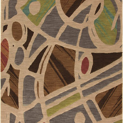 Karastan - Karastan Artois 74800-14114 Mathias Fog Rug - The swirling pattern of this modernly designed rug will make you feel like you're floating over the floor every time you walk into the room. With structure and style, this rug really soars!