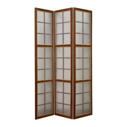 MOROCCAN SCREEN - This is a 3 panel high designed pvc with glass looking screen. This stylish contemporary vanity will give living room, office, family room a clean and cool look.