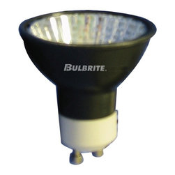 Bulbrite - Dimmable Halogen Light Bulbs in Black - 10 Bu - One pack of 10 Bulbs. 120 V GU10 base MR16 bulb. 38 degree beam spread. Aluminized coating prevents back spill. Lensed for UV protection. Ideal for residential and commercial applications. Perfect for track, landscape, recessed cans, down lights and landscape lighting. Average hours: 3000. Color rendering index: 100. Color temperature: 2700 K. Wattage: 50 watt. Lumens: 1800 CP. Maximum overall length: 2.06 in.