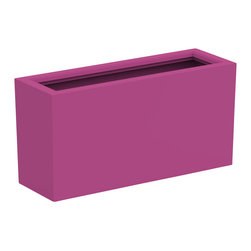 Decorpro - Large Aberdeen Planter, Bubble Gum - The Aberdeen planter is perfect for indoor and outdoor use. Use this planter indoors to create an amazing garden for fresh herbs and vegetables. The slender depth and elongated width allows for a versatile range of placements and uses.