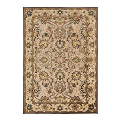 "Surya - Surya Basilica BSL-7209 (Feather Gray, Espresso) 5'2"" x 7'6"" Rug - The rugs of Surya's Basilica Collection are distinctive and textural with high contrast color palettes and shimmering details. Machine made in Turkey from a combination of viscose and acrylic chenille, these rugs are durable, stylish, and priced right. Modern motifs and cutting edge construction, they make a sophisticated statement in any transitional or contemporary space."