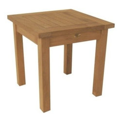 "Teak English Garden 20"" Square End Table - Out of Stock til June - For everyday use, the Teak English Garden Side Table has got you covered."